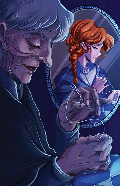"Sophie Hatter from the novel ""Howl's Moving Castle"" by Diana Wynne Jones.  Illustration by jovaline"