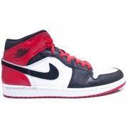555088-184 Air Jordan 1 Retro Black Toe High OG White Black Gym Red Price:$107.00  http://www.theblueretro.com