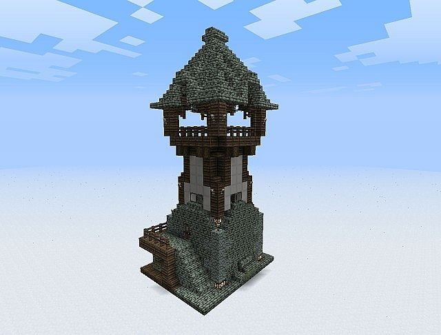 Watchtower minecraft inspiration pinterest medieval for Build a castle home