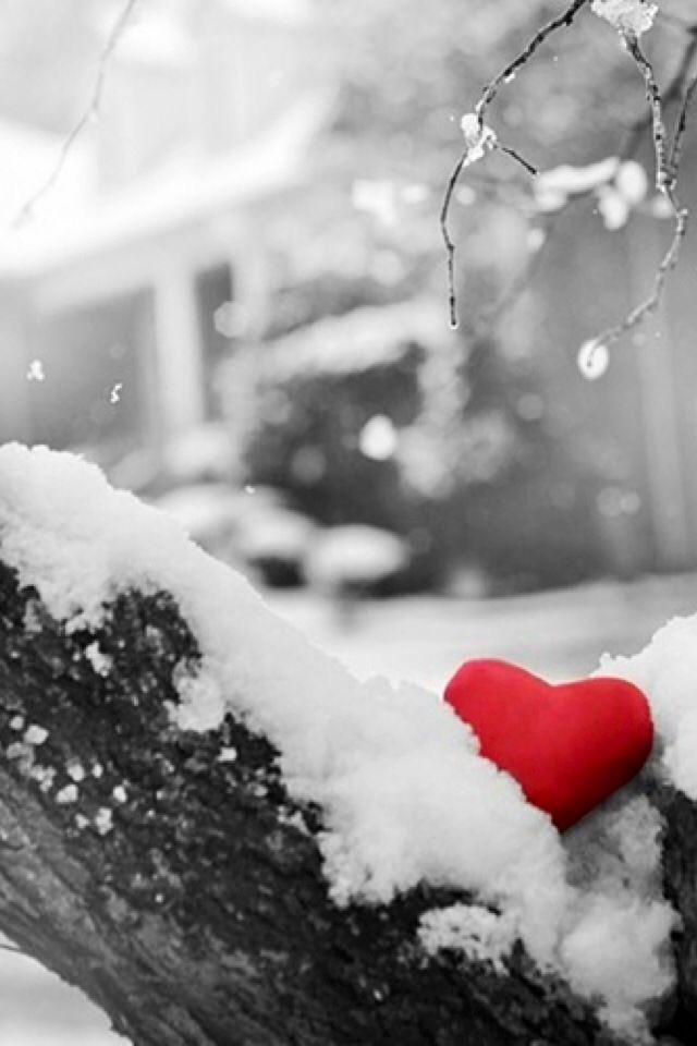 Snow Hearts Photography Abstract Background Wallpapers on