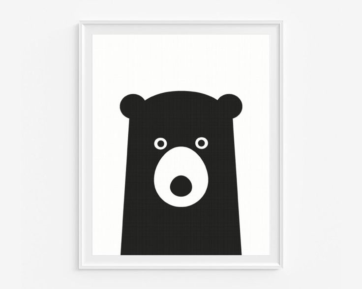 Black bear nursery giclee print- Black and white kids room decor- Wall art for children- (A-267) by cocoandmintstudio on Etsy https://www.etsy.com/listing/196652182/black-bear-nursery-giclee-print-black