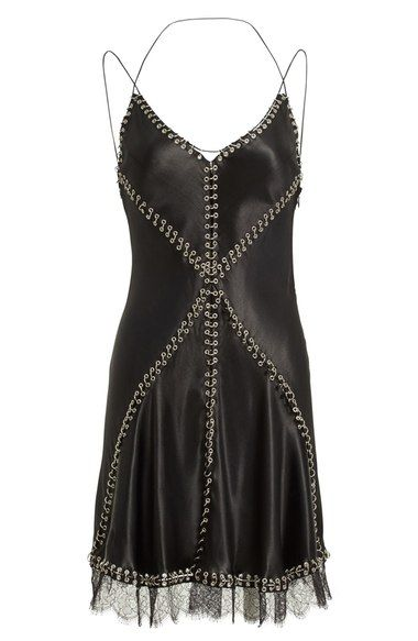 Alexander Wang Pierced Silk Camisole Dress available at #Nordstrom