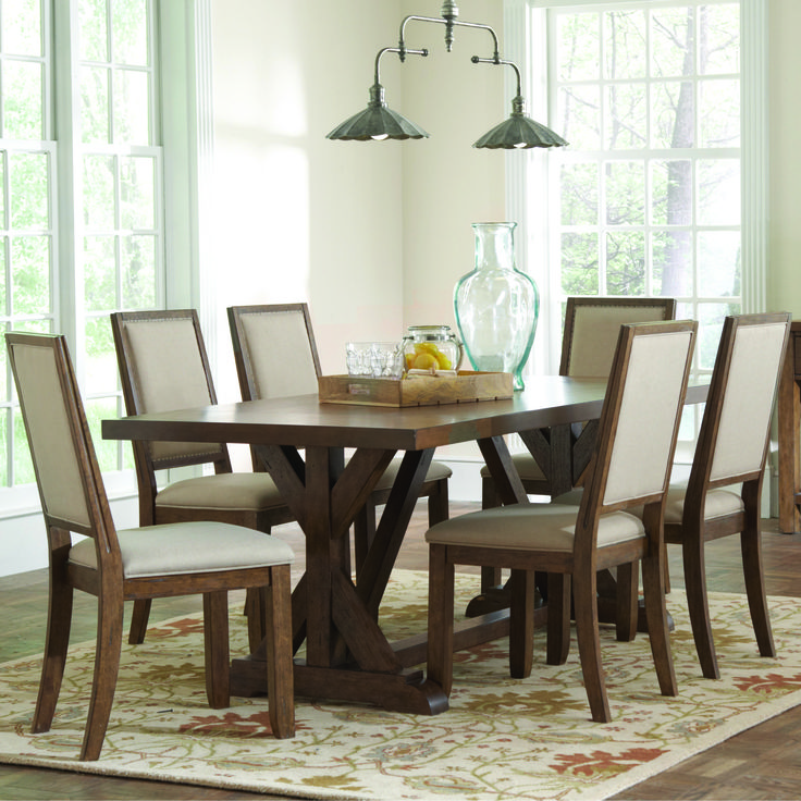 Bridgeport Rustic Table And Chair Set By Coaster. Rustic Kitchen  TablesRustic TableRustic Kitchens7 Piece Dining ...