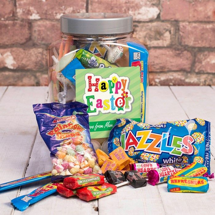 Personalised Retro Sweet Jar - Happy Easter | GettingPersonal.co.uk