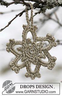 """Stjerne i """"Cotton Viscose"""" og """"Glitter"""" til Jul. ~ DROPS Design"""