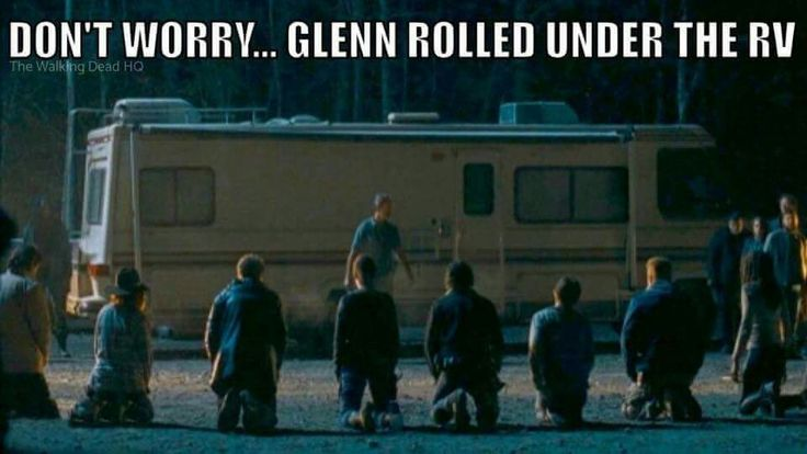 I'd honestly love to believe this but something tells me Glenn's luck has run out.