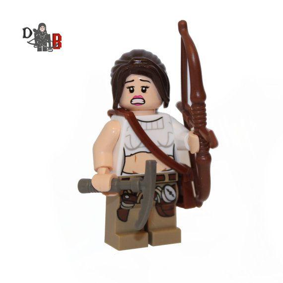 Custom Tomb Raider Lara Croft Minifigure made by Demonhunterbricks