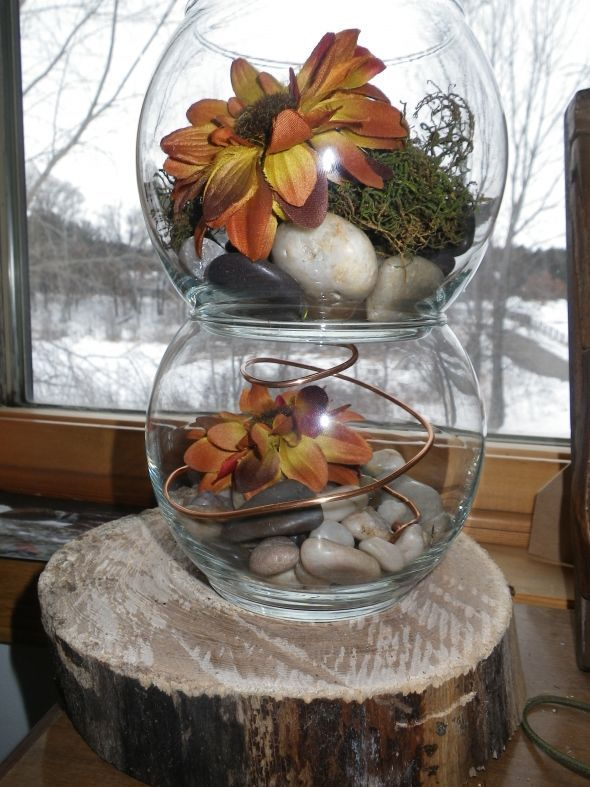 Best ideas about fish bowl centerpieces on pinterest
