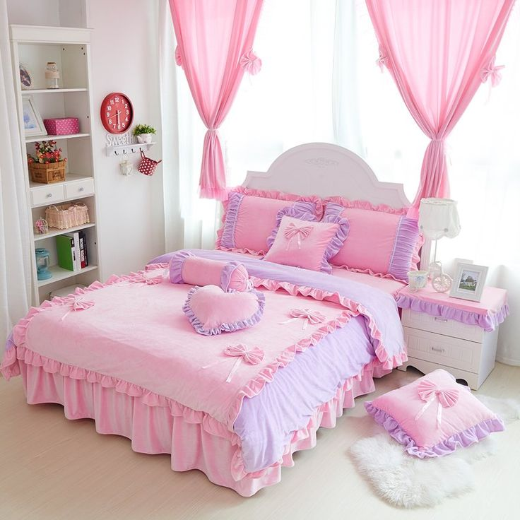 Find More Information about Winter velvet soft warm bedding set pink sweet  bow thickening coral fleece. 1000  ideas about Bed Sets For Sale on Pinterest   Large bedding