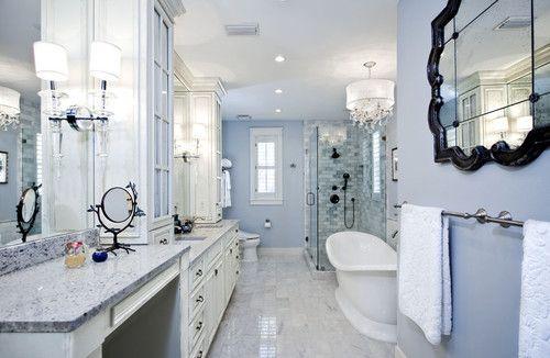cool tile pattern in shower: Decor Ideas, Bathroom Vanities, Closet Design, Bedrooms Closet, Traditional Bathroom, White Bathroom, Bathroom Ideas, Master Bathroom Design, Casa Nova