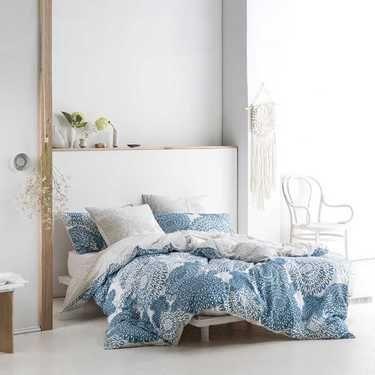 Marie Claire Germain Quilt Cover Set Blue