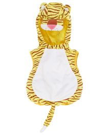 Costume di Carnevale da tigre, giallo con strie marroni, con orecchie muso e ...