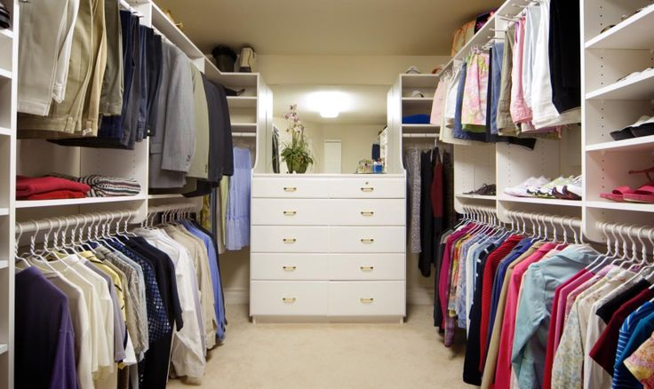 Well custom design your wardrobe so his things stay on his side and her things stay on hers.