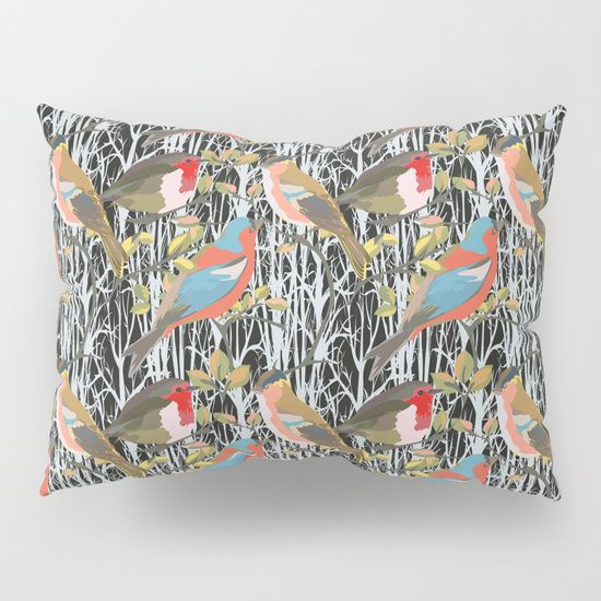 Birds and Trees Pillow Sham