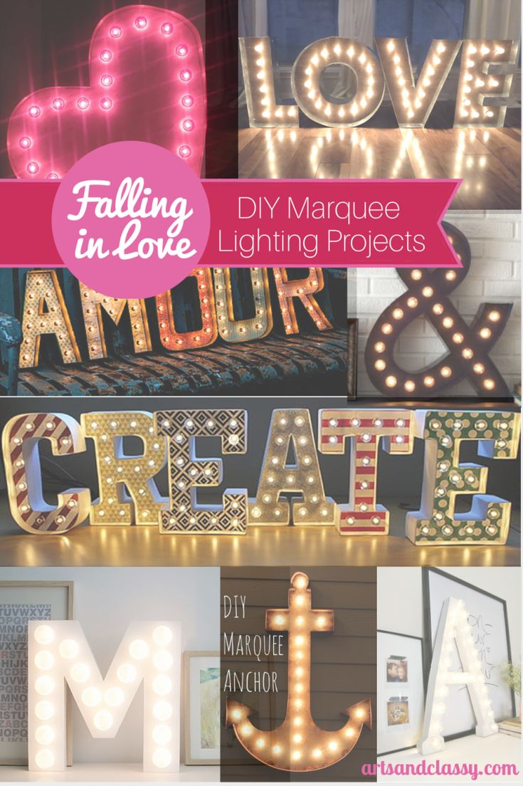 DIY Marquee Letters Marquee letters DIY