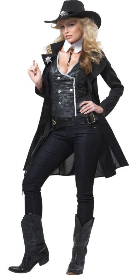 Smokin' Sheriff Cowgirl Costume for Adults - Halloween City