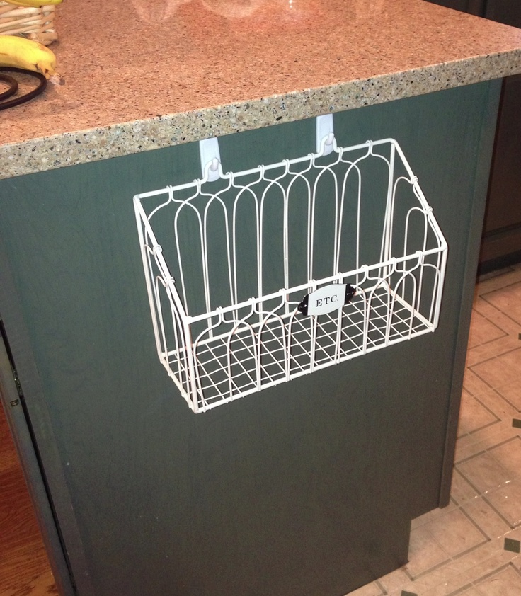 Great for keeping mail and misc papers off kitchen counter! Used strong 3M hangers to hold–no nailing required! Super helpful trick for renters and #…