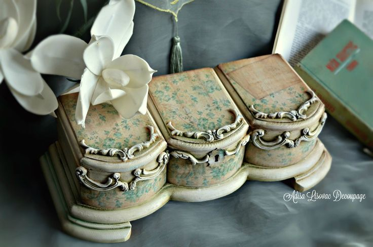 vintage shabby chic romantic home decor jewelry box Adisa Lisovac Decoupage