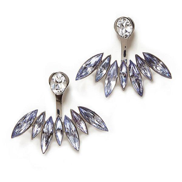 CA&LOU Alexa Lobo Earrings ($285) ❤ liked on Polyvore featuring jewelry, earrings, ca&lou, swarovski crystal earrings, swarovski crystal stud earrings, studded jewelry und stud earrings