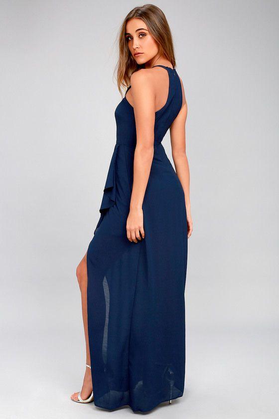 I Spy Navy Blue Maxi Dress 2