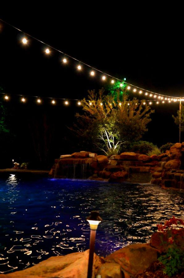 String Lights Installation : 1000+ images about String / Party Lights Installation by Dallas Landscape Lighting on Pinterest ...