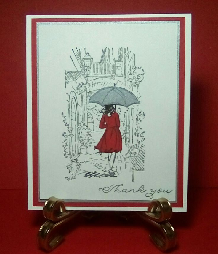 Lady in Red card, Stampin' Up! 'Beautiful You' and Mediterranean Moments Cotswoldcrafter.blogspot.com