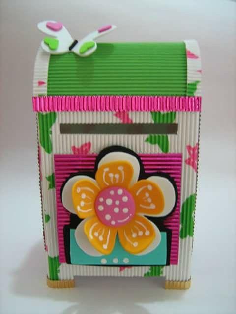 35 best cajas decoradas images on pinterest decorated boxes carton box and cartonnage - Decoracion de cajas ...