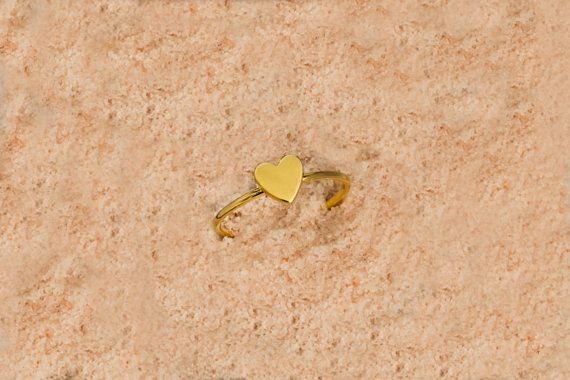 Silver tiny heart Gold tiny heart 925 sterling silver  Tiny heart ring