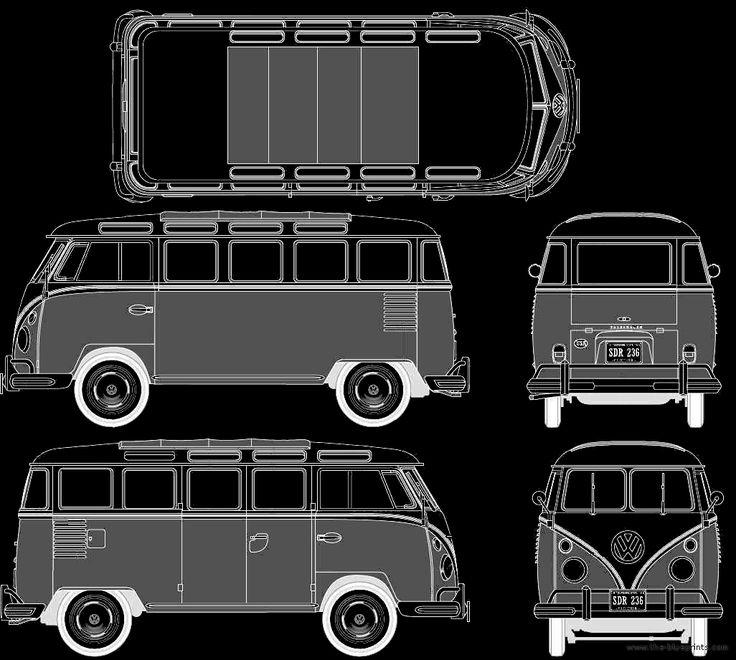 Vw Bus Drawing Front Of Volkswagen Van Has Been
