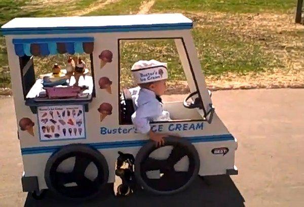 Ice cream man - little boy with wheelchair