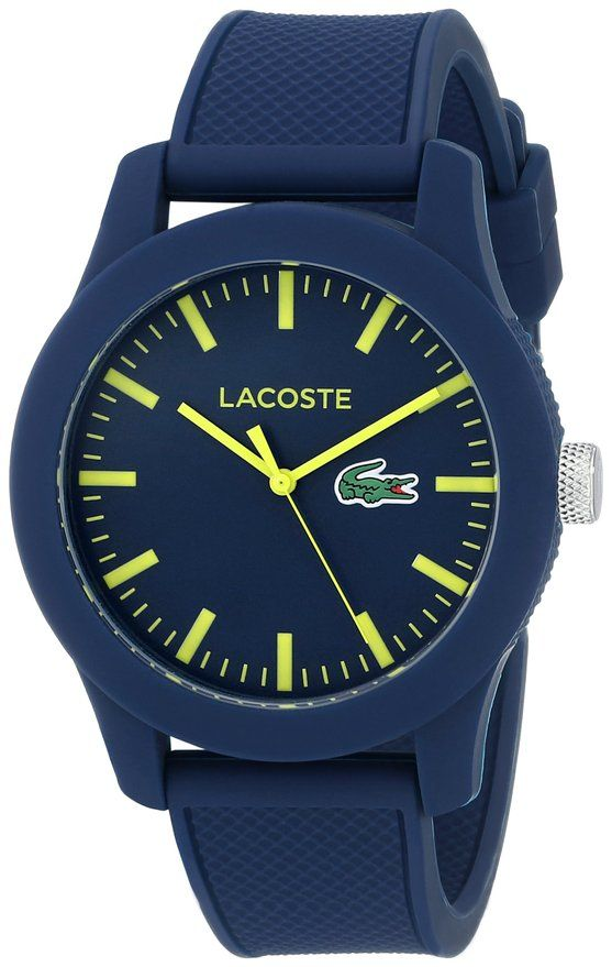 Lacoste 12.12 Blue Resin Watch for Men for $60 http://sylsdeals.com/lacoste-2010792-lacoste-12-12-blue-resin-watch-men-60/