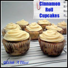 With A Blast: Cinnamon Roll Cupcakes