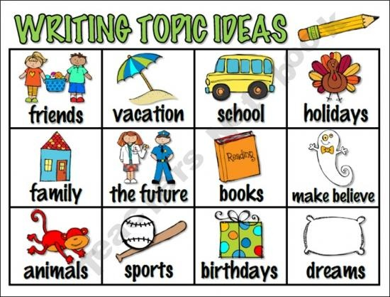 writing topic ideas