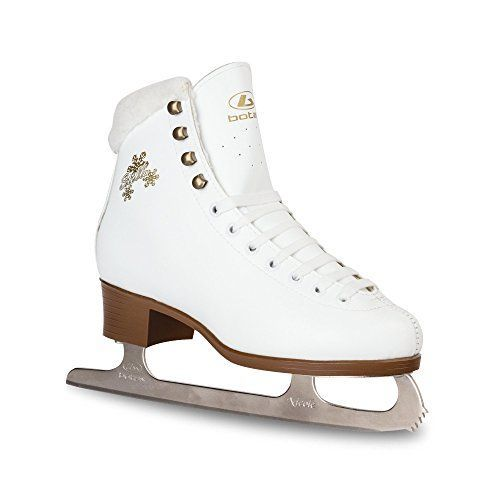 Botas Kids White Ice Skates - STELLA | Made in Europe (Czech Republic) Junior Size: 3 -- You can find out more details at the link of the image.