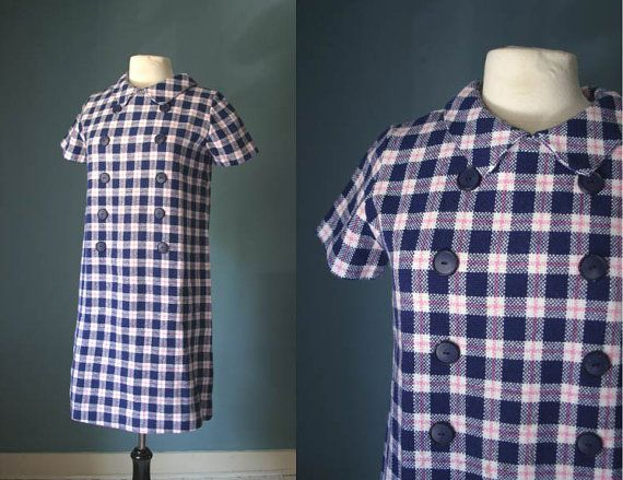Vintage 1960s Mothercare Maternity Dress in Woven by VioletsAtticVintage #vintagematernity #violetsattic