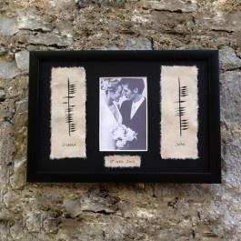 Ogham Personalised Wedding Gift : ... Gift Wedding ideas Pinterest Personalized wedding, Wedding and