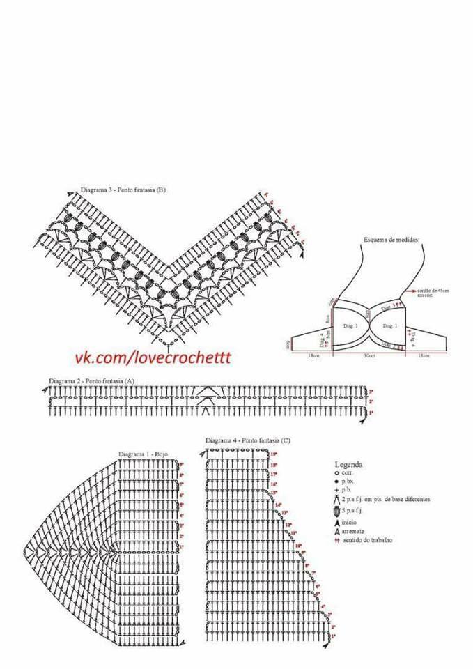 1129 best TOPS images on Pinterest | Crochet pattern, Beachwear ...