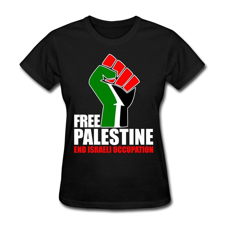 >> Click to Buy << Free Palestine - End Israeli Occupation Women's T-Shirt Shirt Funny Angel Grunge Femme Streetwear Lady Casual Short Sleeve Tees #Affiliate