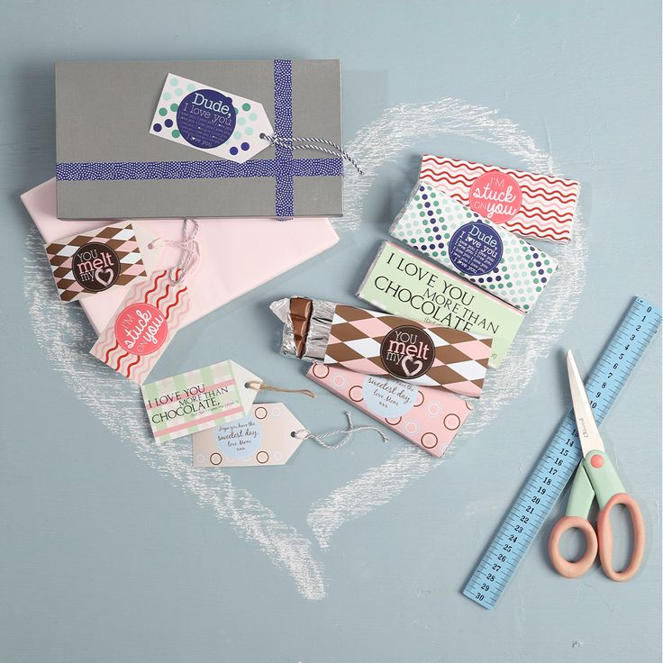 Chocolate wrappers and gift tags #KidsCraft #Printables #SouthAfrica