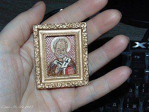 Вышивка иконы Николая чудотворца.   Ярмарка Мастеров - ручная работа, handmade
