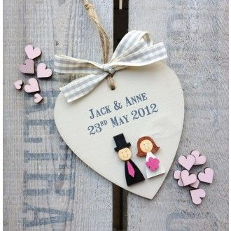 Personalised Wooden Heart - Wedding / Valentines / Anniversary Gift