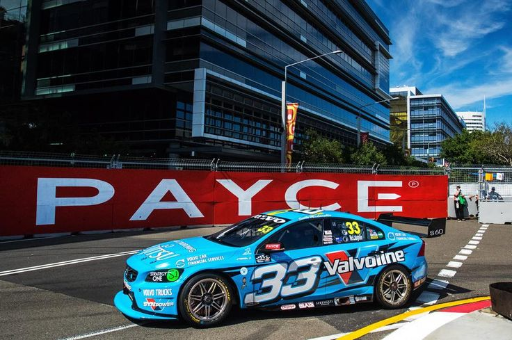 Scott McLaughlin and his Volvo V8 racing around to his 3rd at the NRMA 500