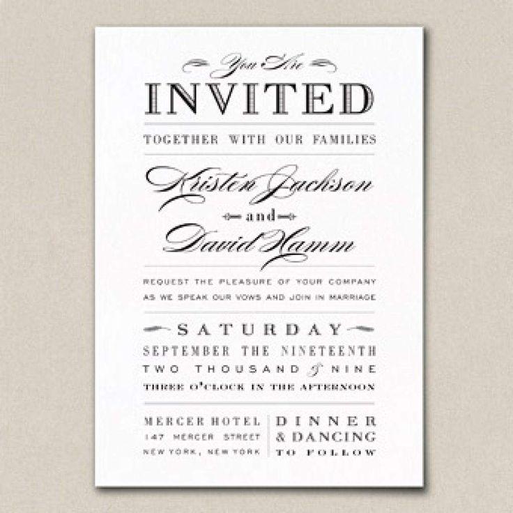 Best 25+ Wedding Invitation Wording Samples Ideas On Pinterest, Wedding  Invitations