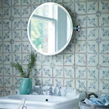 NEW Paris Isabelle tiles, beautiful hand made and decorated glazed terracotta tiles, as pretty as their names imply.
