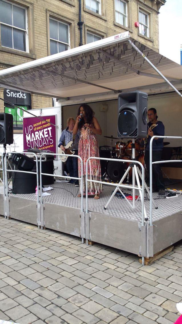 Dana Ali band playing at Upmarket Sunday