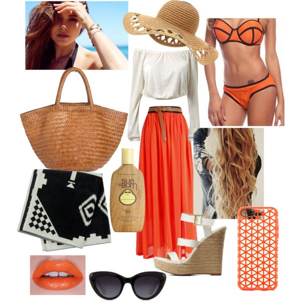 ~Sunkissed swimwear~ by annabellalom on Polyvore featuring Charlotte Russe, Laggo, Lunatik, Lime Crime, Sun Bum and Pendleton