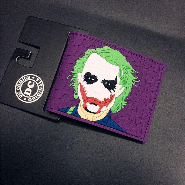 FVIP Comics Wallet Super Mario Dc Marvel the Avengers Batman Flash Superman 3D Purse Logo Credit Card Holder Man Wallet