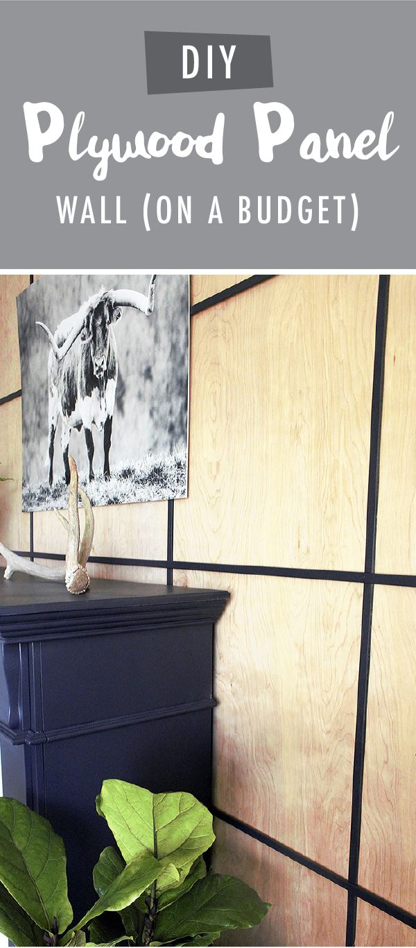 If you're trying to remodel your home on a budget, then this easy DIY plywood panel wall tutorial from Shannon, of Coffee Paint Repeat, is perfect for you! Shannon created this modern accent wall using plywood and moulding painted with a coat of Ink Black to fill in the spaces between the wood. The resulting contrast creates a chic, industrial look.