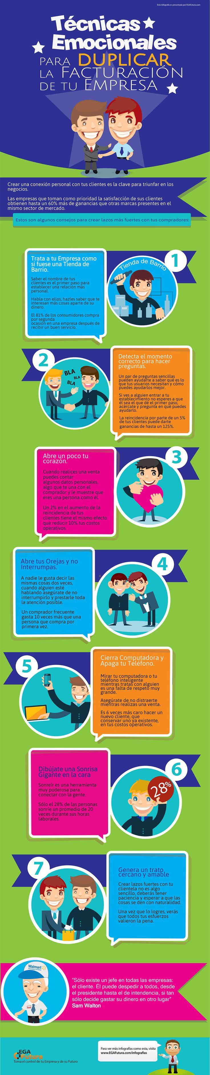 Infografía sobre cómo crear lazos emocionales con los clientes.
