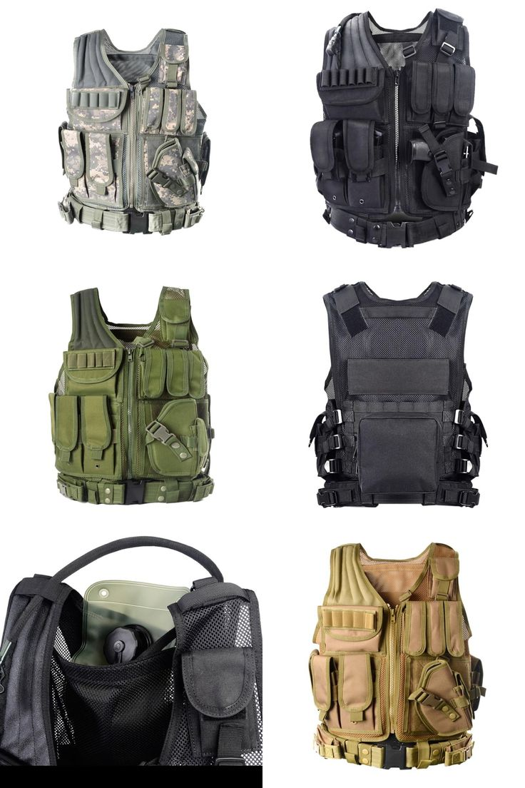 [Visit to Buy] 5 Colors Mens Tactical Military 600D Oxford Swat Vest Field Battle Airsoft Molle Combat Assault Plate Carrier Hunting Vest  #Advertisement
